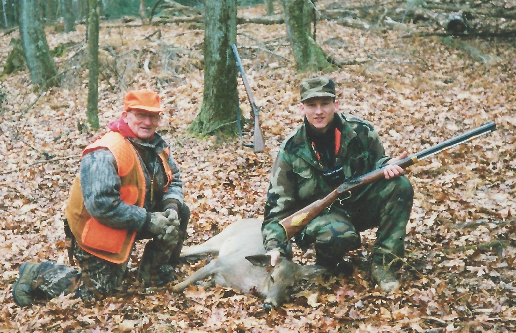 Dan and Dad Muzzleloader Deer 90s Cropped