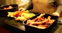 Snapshot 6 Bones and raw vegetables cropped